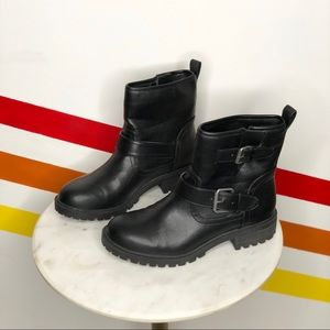 Urban outfitters vegan leather Moto boots